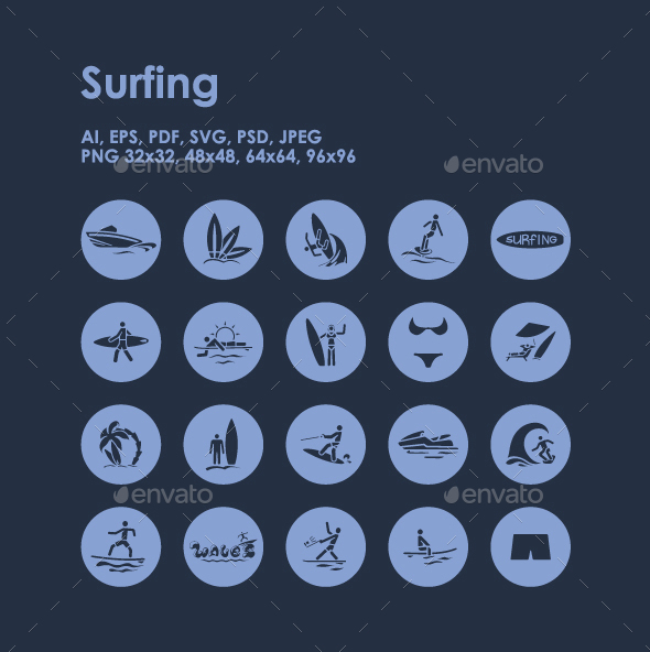 20 Surfing icons - Miscellaneous Icons
