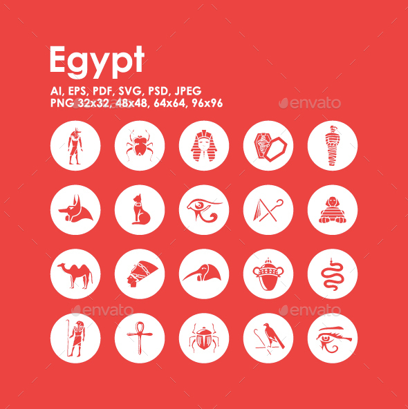 20 Egypt icons - Objects Icons
