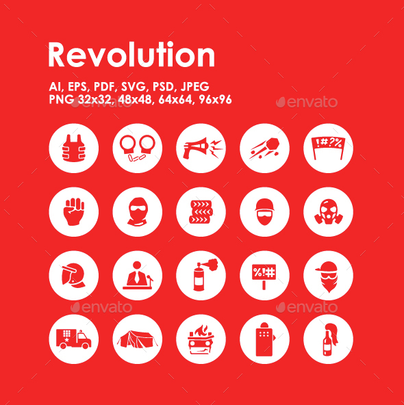 20 Revolution icons - Miscellaneous Icons