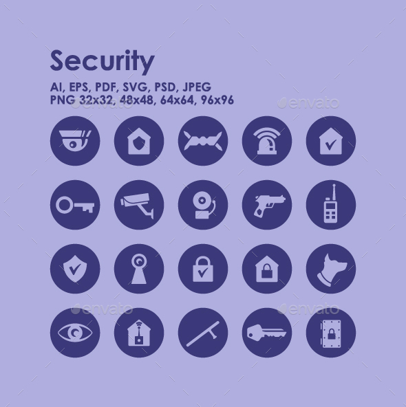 20 Security icons - Technology Icons