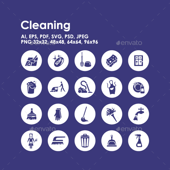 20 Cleaning icons - Objects Icons