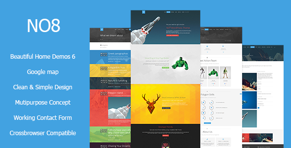 NO8 HTML – Creative Agency Portfolio Theme