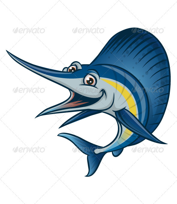 blue marlin - Animals Characters