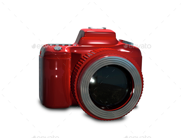Red camera - Objects 3D Renders