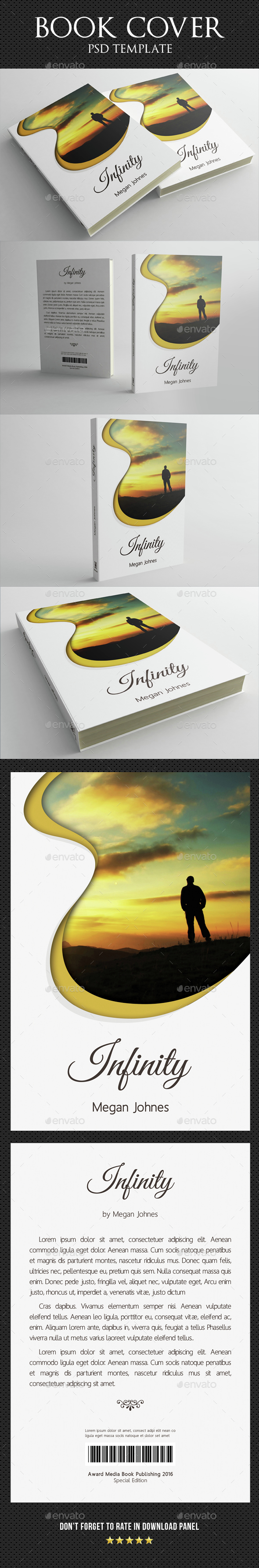 Book Cover Template 05 - Miscellaneous Print Templates