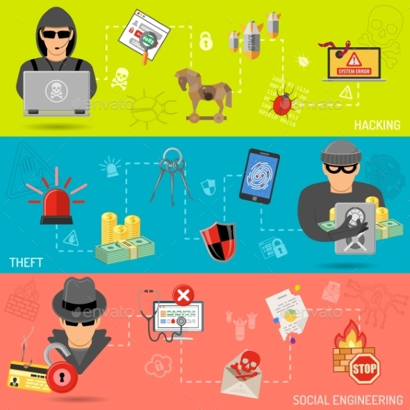 Cyber Crime Banners - Web Technology