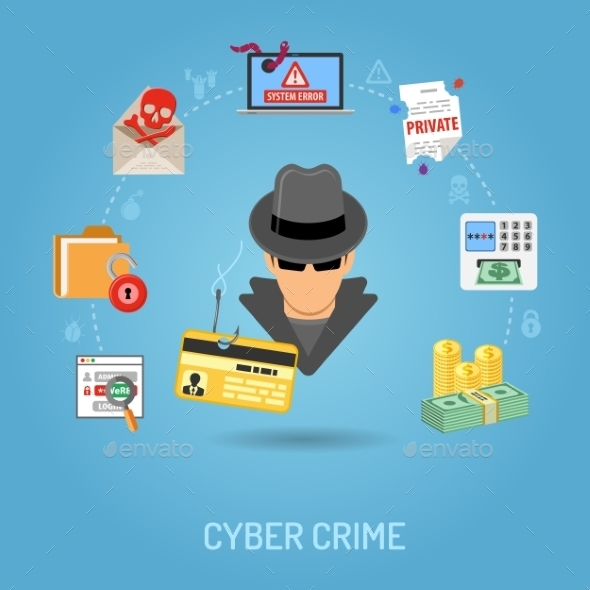 Cyber Crime Concept - Computers Technology