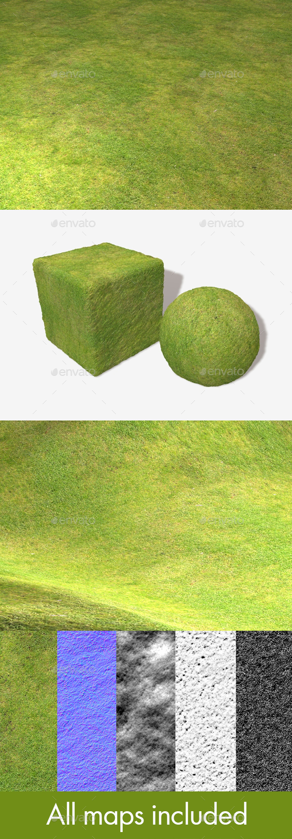 Grass High View Seamless Texture - 3DOcean Item for Sale