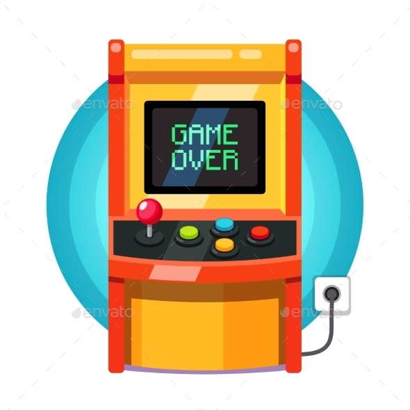 Retro Arcade Machine Plugged In - Retro Technology