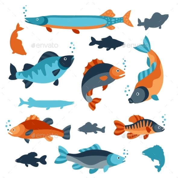 Set of Various Fish - Animals Characters