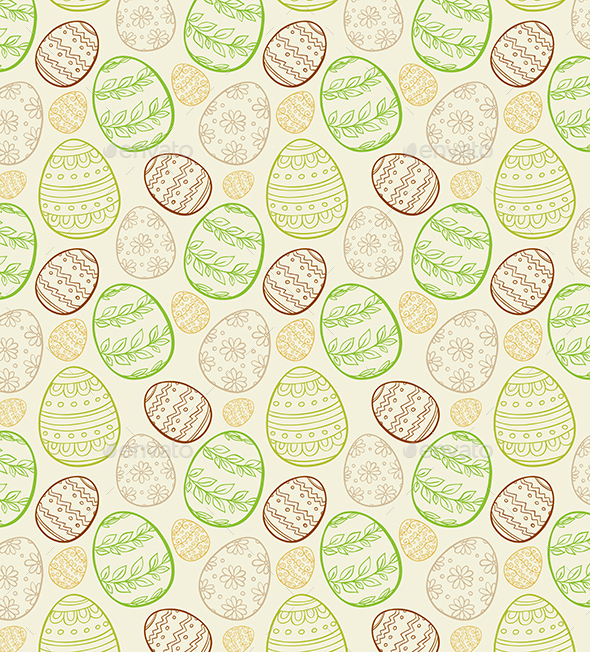 Abstract Easter Seamless Pattern - Patterns Decorative