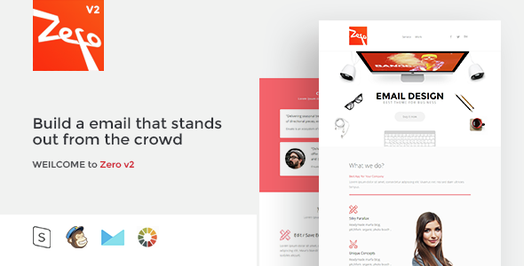 Zero - Responsive Email Template - Email Templates Marketing
