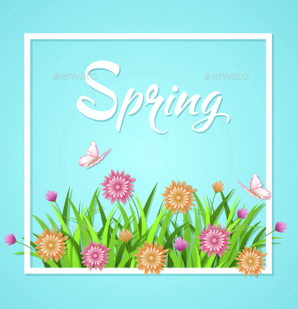 Blue Spring Background  - Seasons Nature