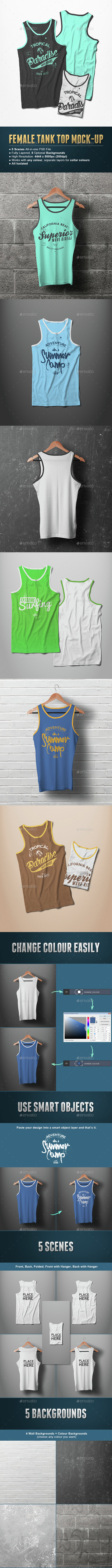 Male Tank Top T-shirt Mock-up