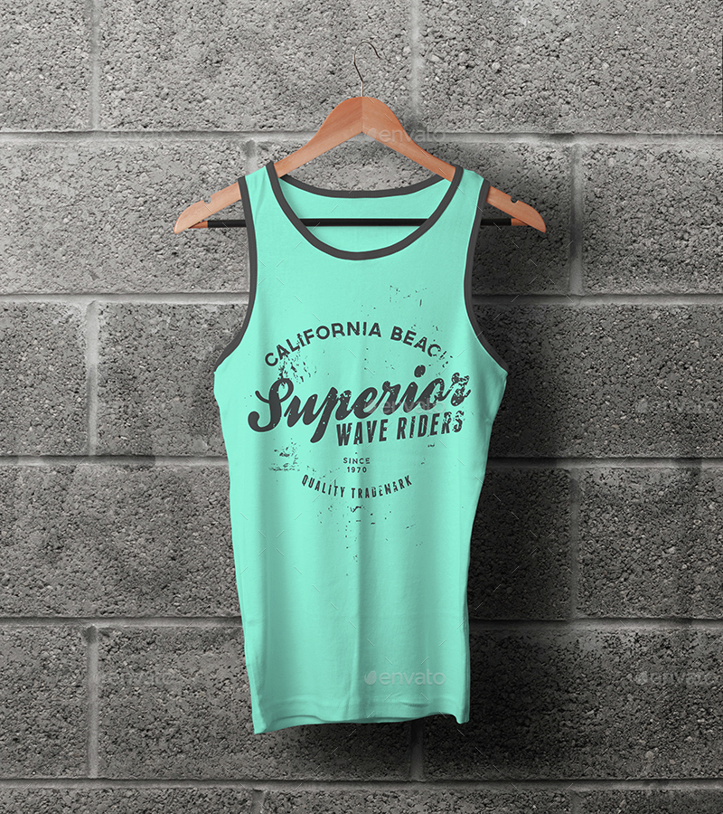 Male Tank Top T-shirt Mock-up by vasaki | GraphicRiver