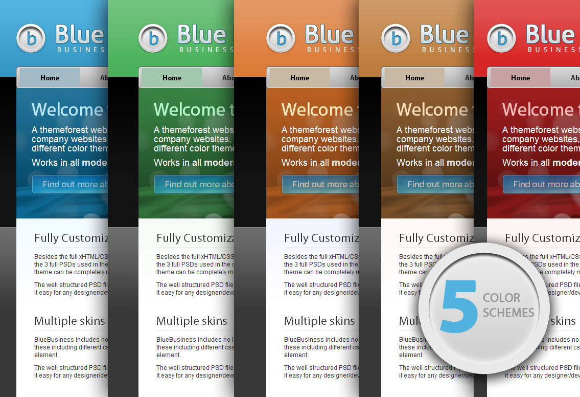 5 Color Schemes By Ghinda