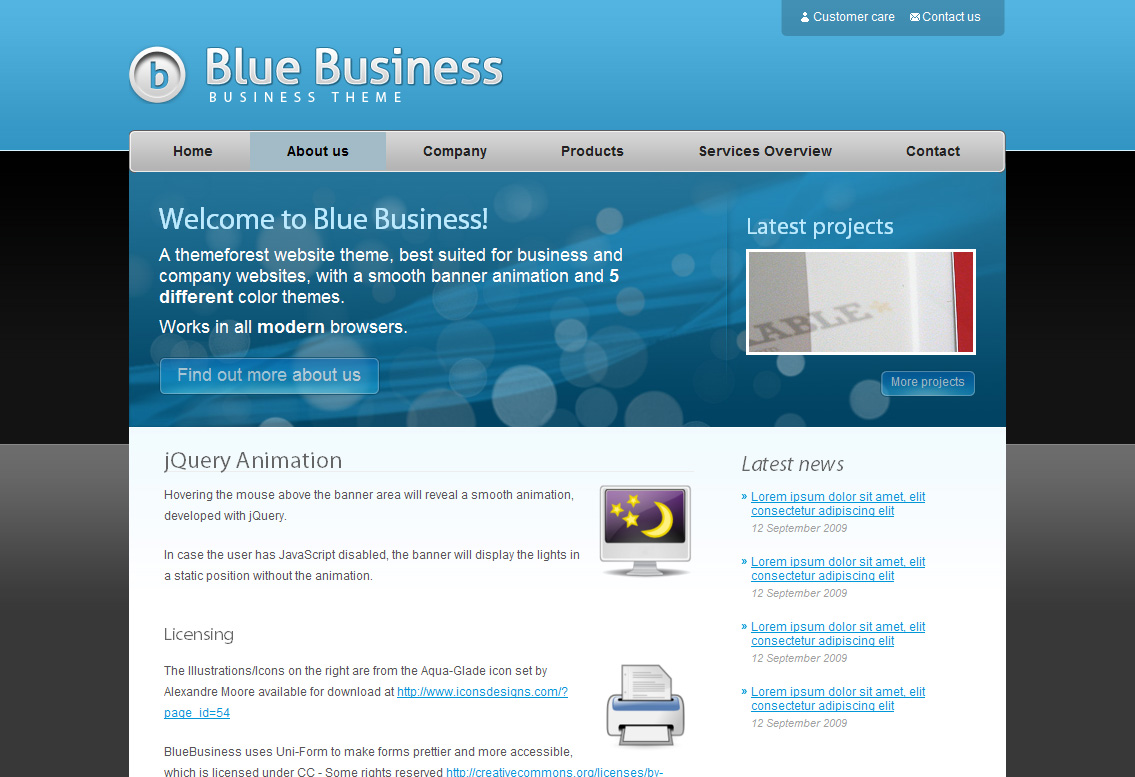 blue business business theme 5 color schemes by ghinda