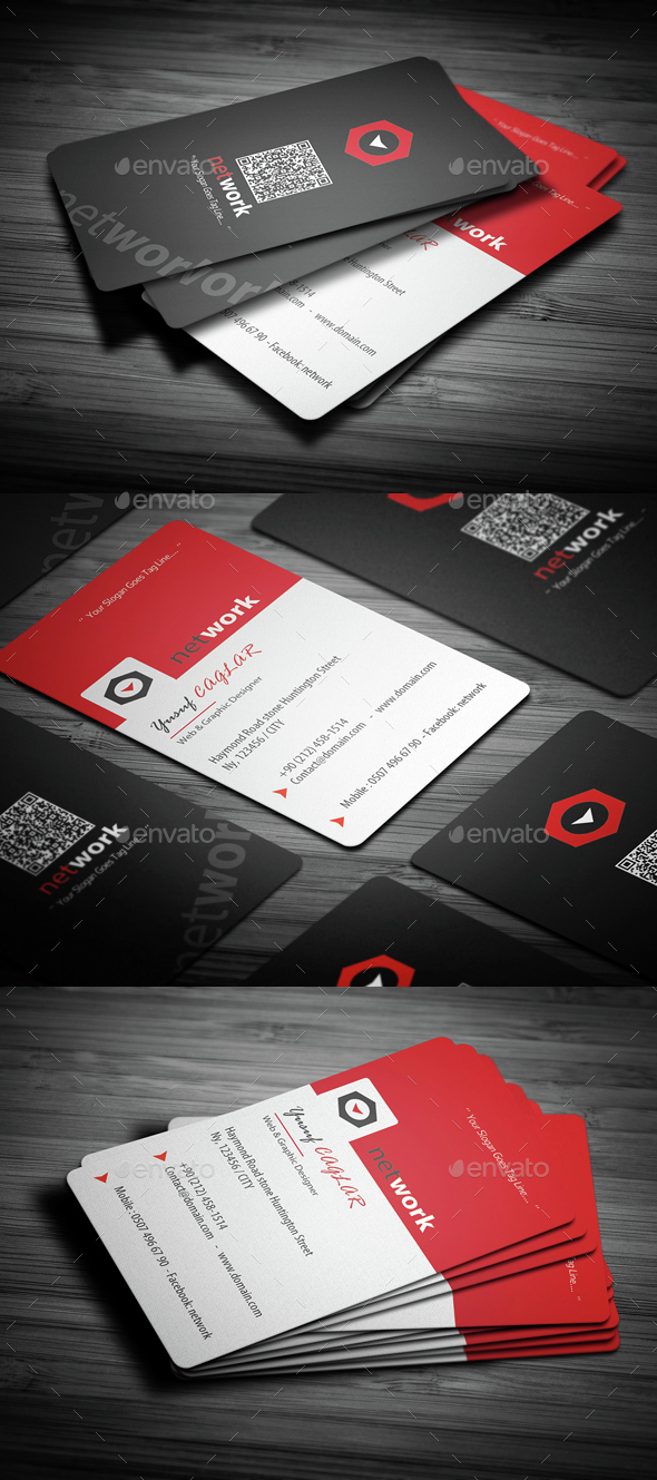 Creative Red Business Card - Creative Business Cards