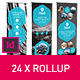 Rollup Stand Banner Display 24x Indesign  - GraphicRiver Item for Sale