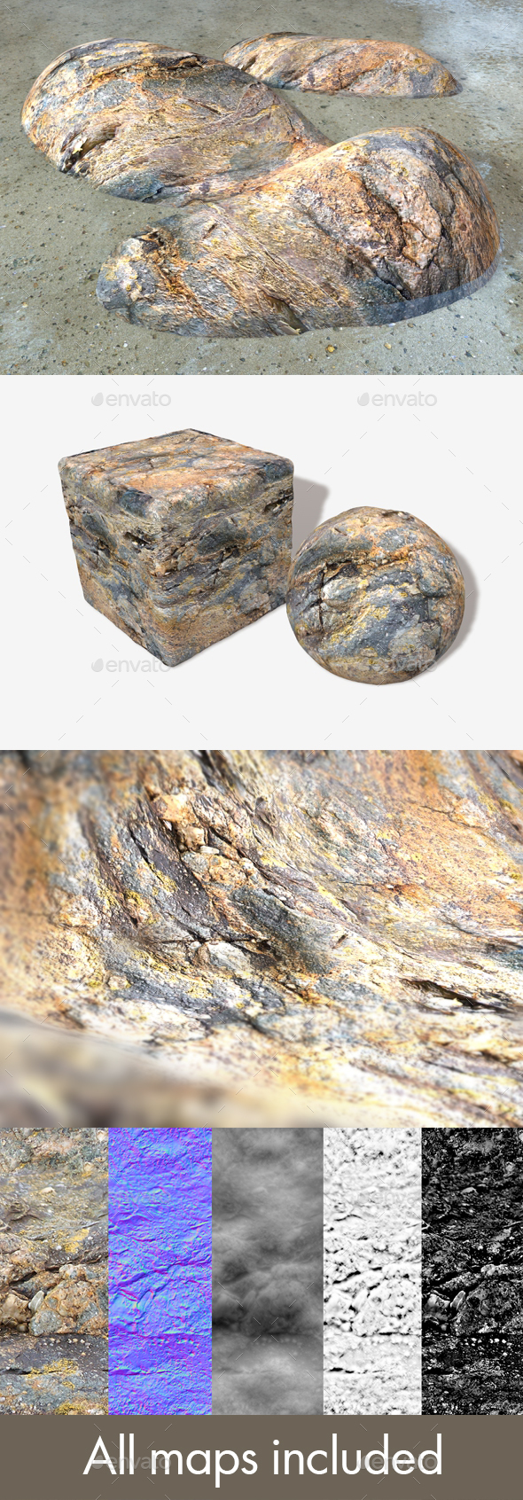 Ocean Rock Seamless Texture - 3DOcean Item for Sale