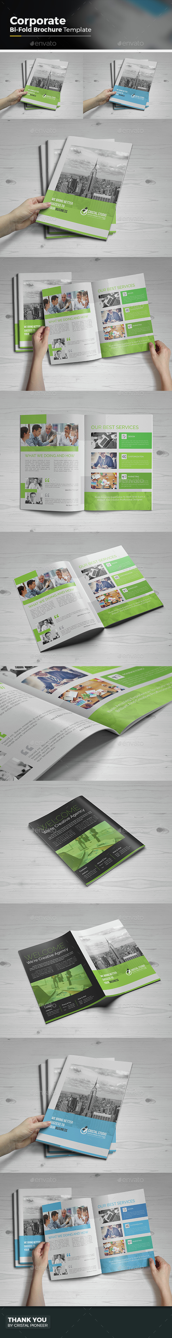 Bi Fold Brochure Template - Corporate Brochures