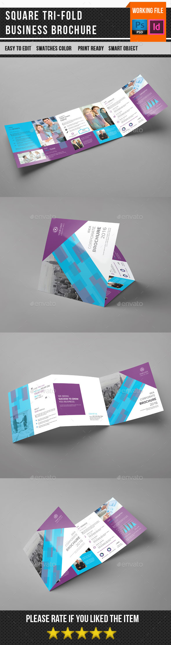 Square Trifold Corporate Brochure-V84 - Corporate Brochures