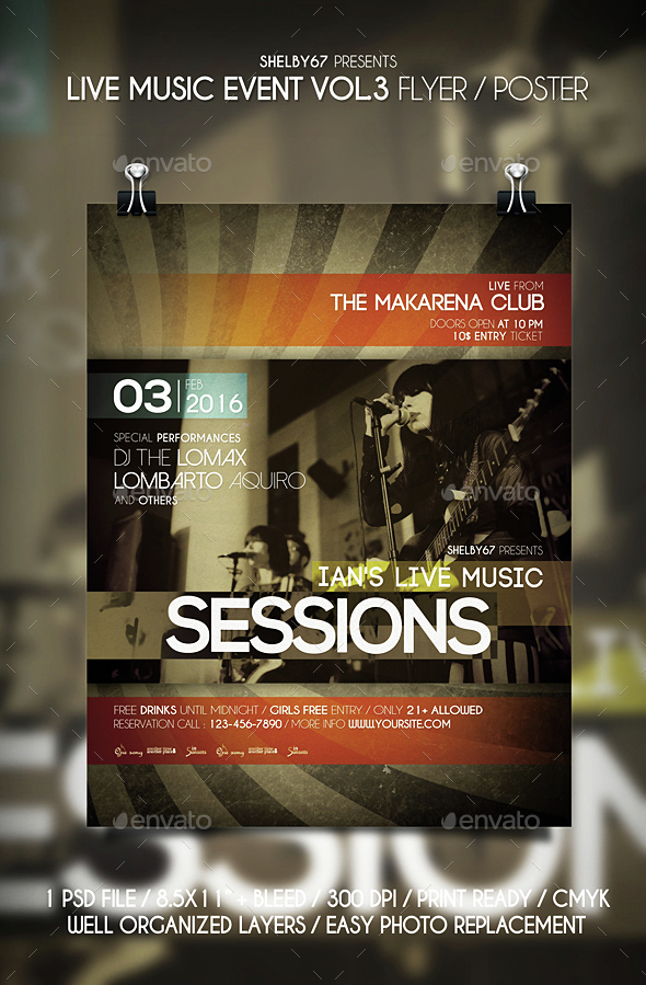 Live Music Event Flyer / Poster Vol 3 - Events Flyers
