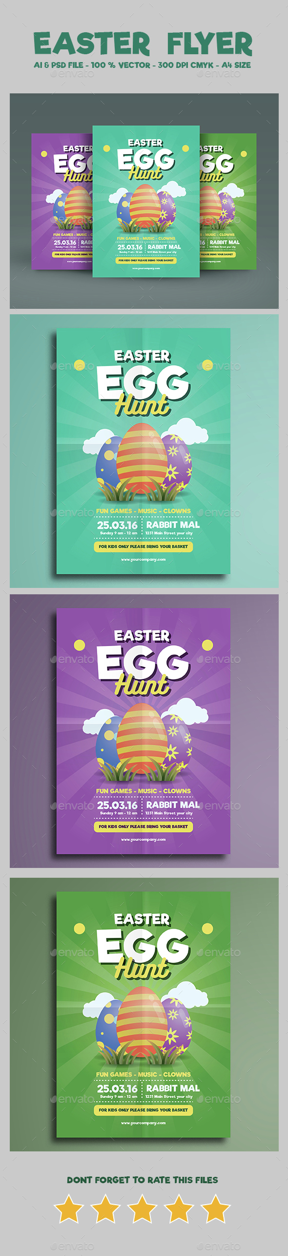 Easter Flyer Vol 03 - Holidays Events