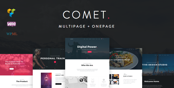 wordpress theme with multiple page templates - comet creative multi purpose wordpress theme by hodylab