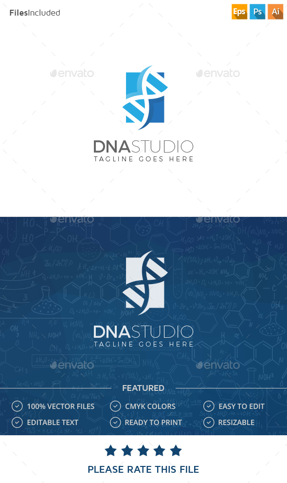 DNA Logo - Vector Abstract