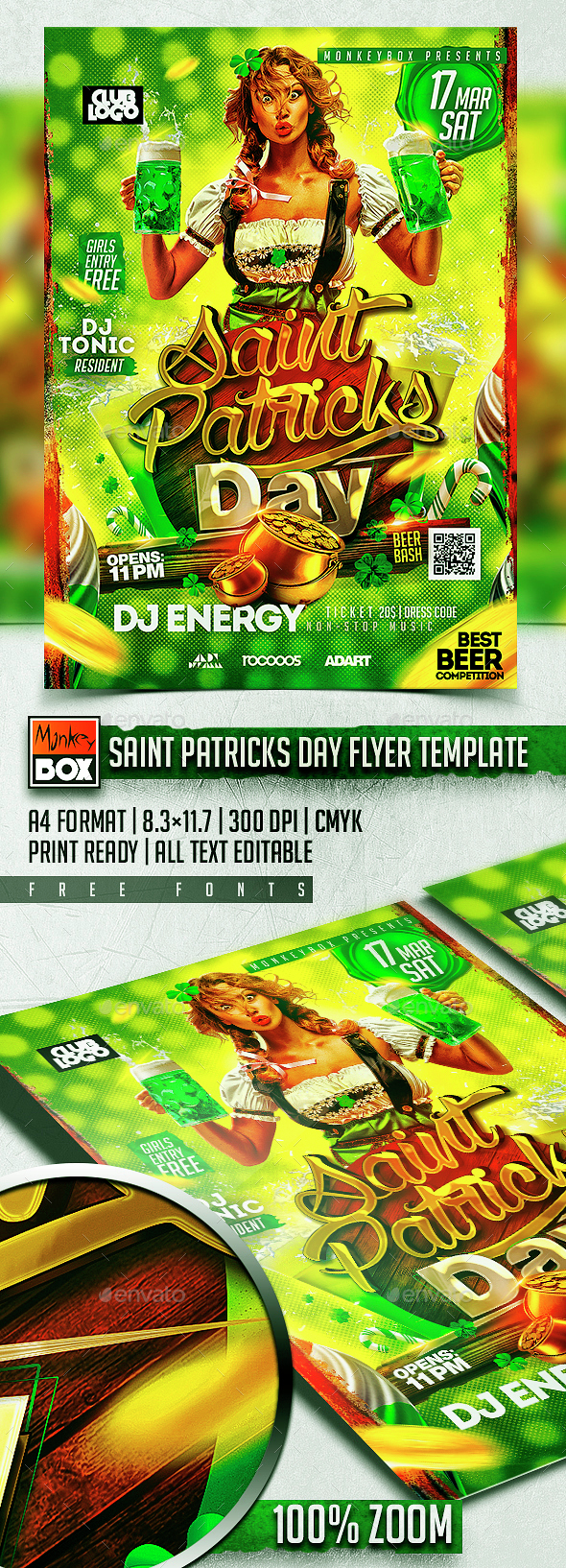 Saint Patricks Day Flyer Template - Holidays Events