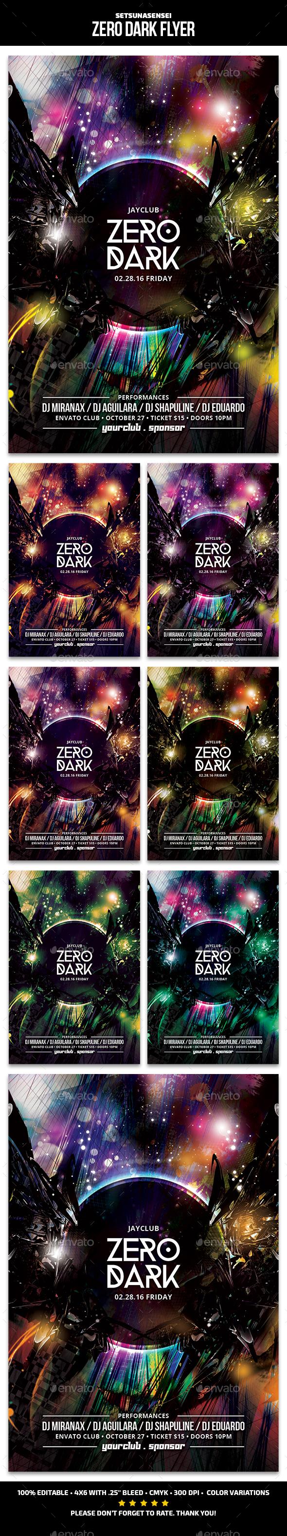 Zero Dark Flyer - Clubs & Parties Events