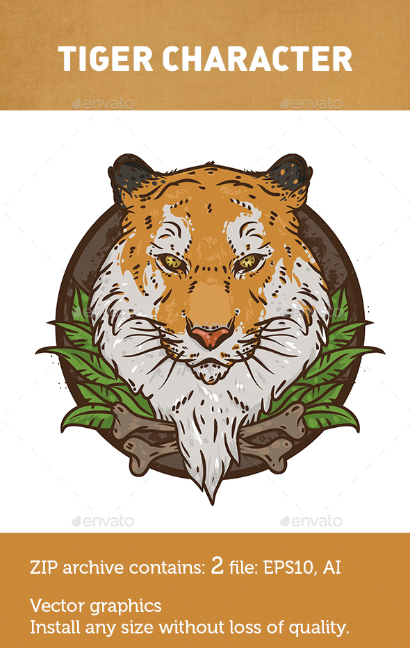 Tiger animal  - Animals Characters
