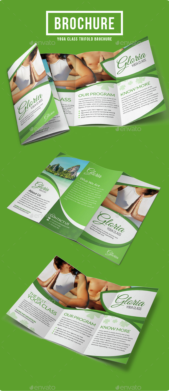 Yoga Class Brochure Template By VisualColony GraphicRiver - Informational brochure template