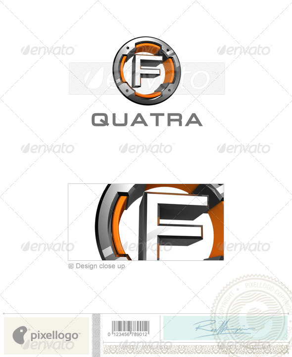 F Logo - 3D-494-F - Letters Logo Templates