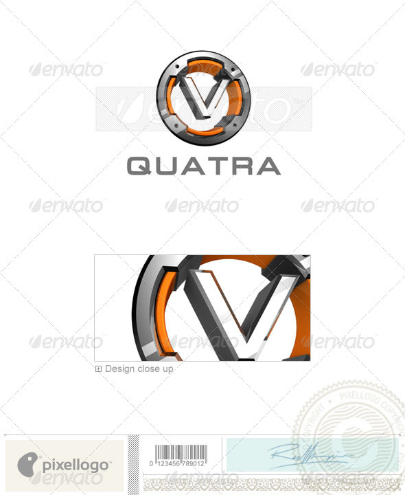 V Logo - 3D-494-V - Letters Logo Templates