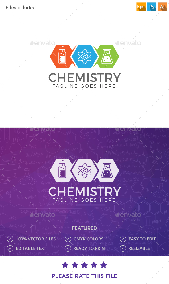 Chemistry Logo - Vector Abstract