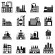 Industrial Building Factory Simple Icons - GraphicRiver Item for Sale