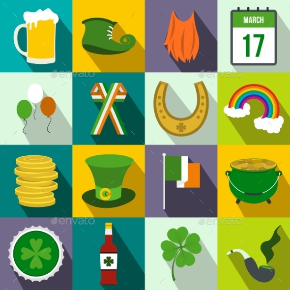 St Patrick Day Flat Icons - Miscellaneous Icons