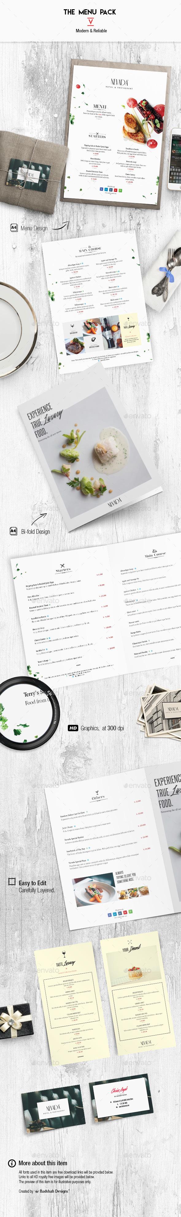Menu Pack 5 - Food Menus Print Templates