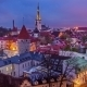 Day To Nigh Transition Tallinn Medieval Old Town - VideoHive Item for Sale