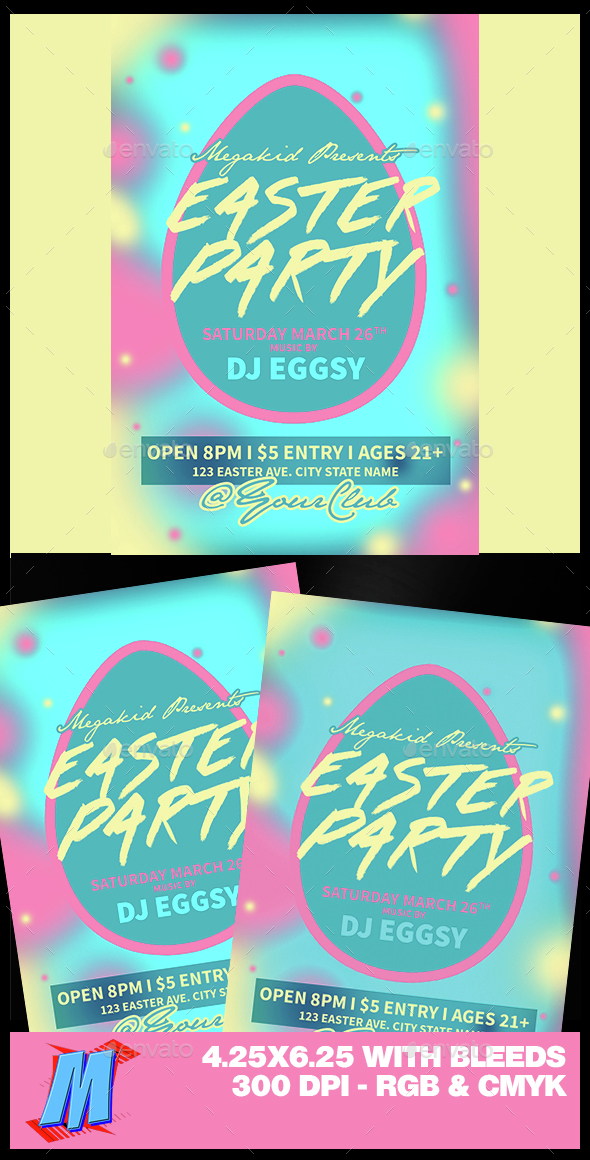 Easter Party Flyer Template - Clubs & Parties Events