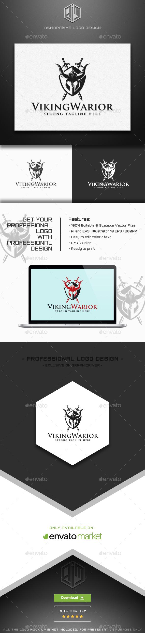 Viking Warior Logo - Humans Logo Templates
