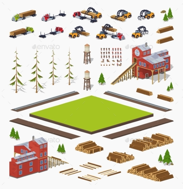 Lumber Mill Construction Set - Industries Business