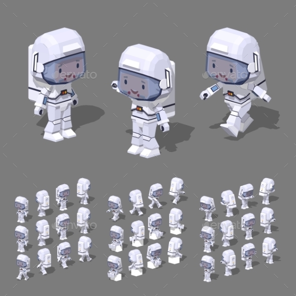 Low Poly Astronaut - People Characters