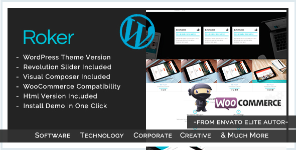 Software , App , Hosting & Business WordPress Theme | Roker