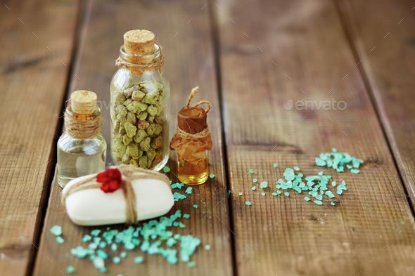 Aromatic spa products - Stock Photo - Images