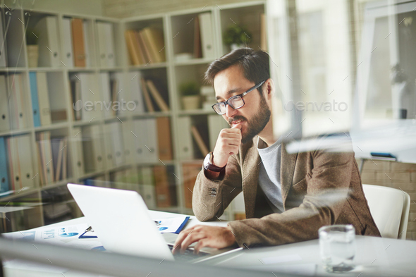Working with laptop - Stock Photo - Images