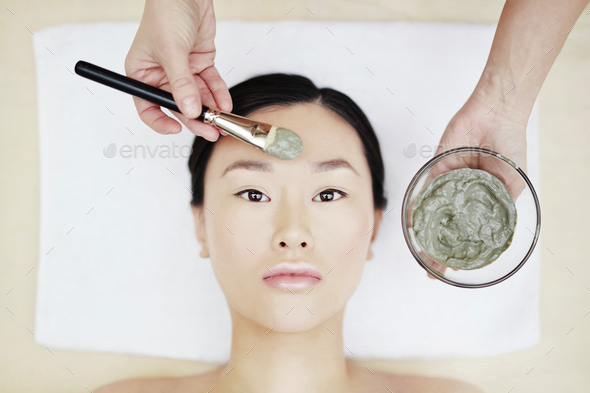 Clay mask - Stock Photo - Images