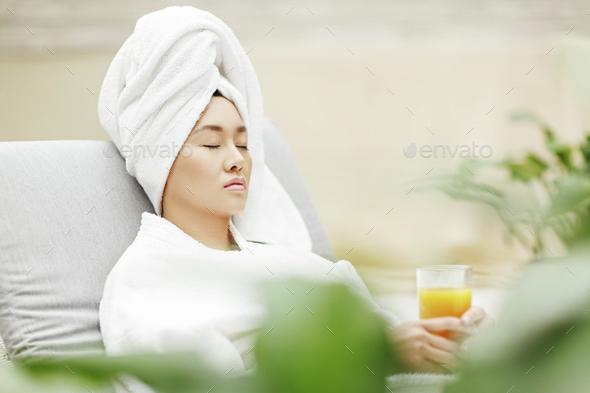 Visiting spa salon - Stock Photo - Images